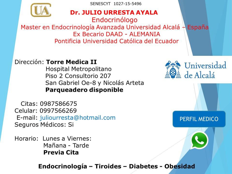 jaime urbina endocrinología y diabetes